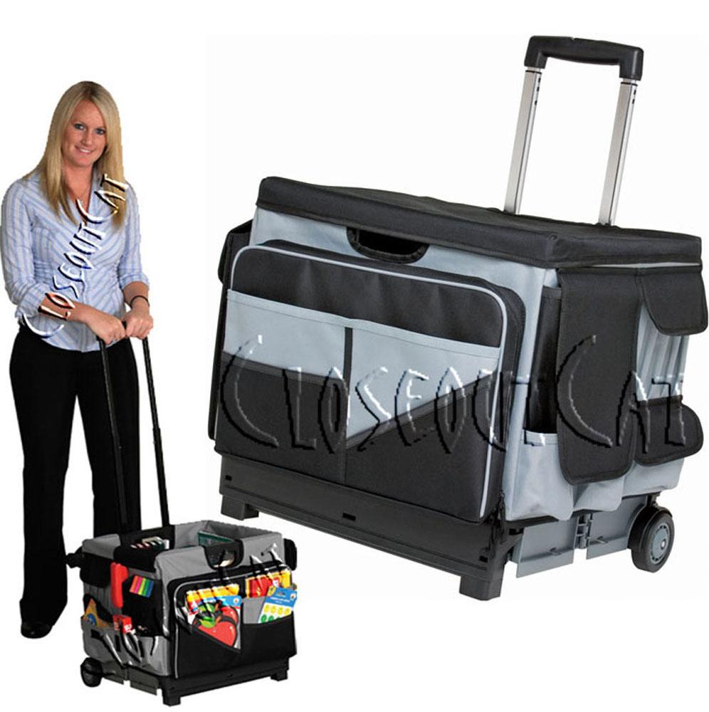 New Memory STOR Rolling Organizer Pull Cart Teacher Office File Tool ...